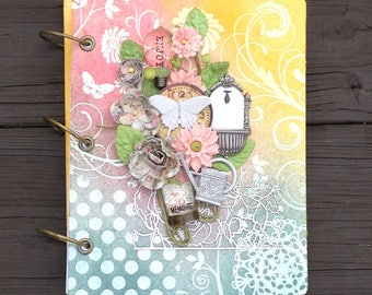 Quinceanera Guestbook, Sweet Sixteen Guestbook, FINAL CLEARANCE, Mixed Media Canvas Album