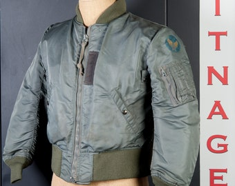1950s Korean War Era Vintage MODIFIED B-15D USAF Military Flight Jacket Bomber new cuffs and collar