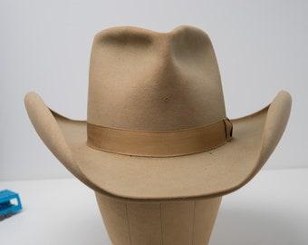 c7d583b1 Vintage 1950's Stetson Number 1 Western Cowboy Hat Mens Size 7-3/8th 50's  Western Wear