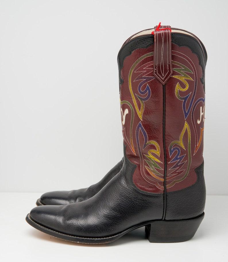 af4c596ca65 Vintage Paul Bond Custom Made Leather Western Cowboy Boots Mens Size Mens  9.5 D HY Brand H.Y.