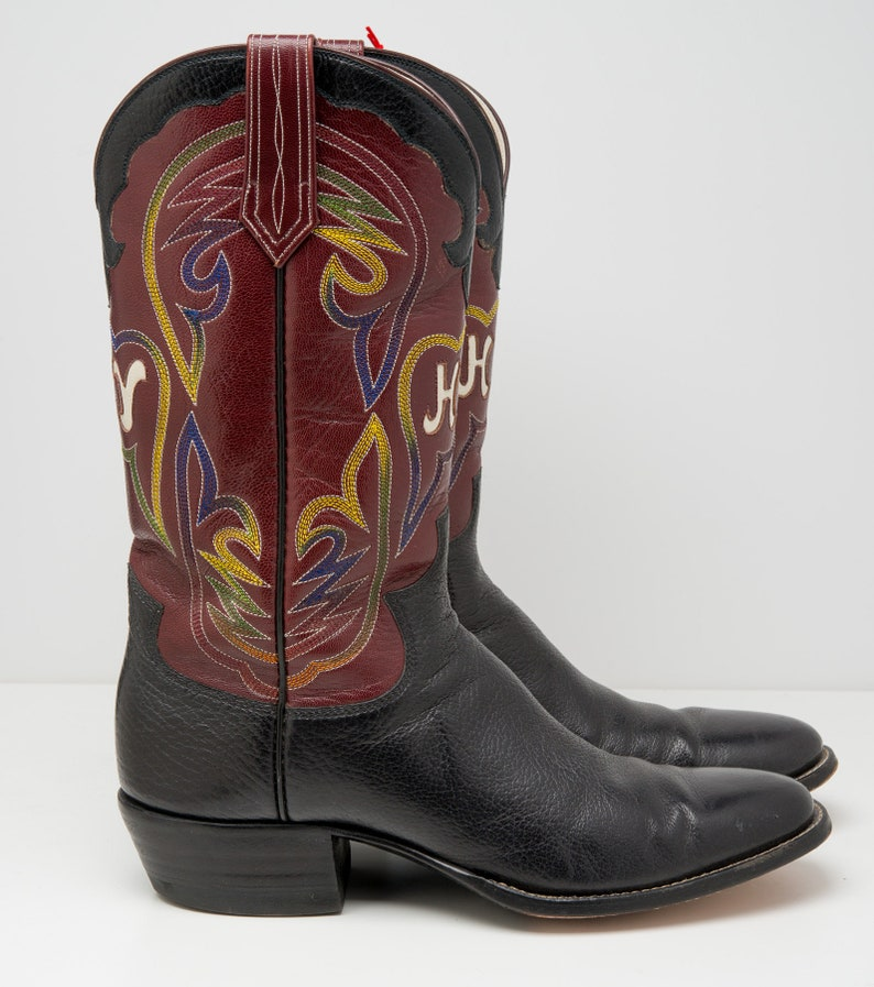 abe724bdccd Vintage Paul Bond Custom Made Leather Western Cowboy Boots Mens Size Mens  9.5 D HY Brand H.Y.