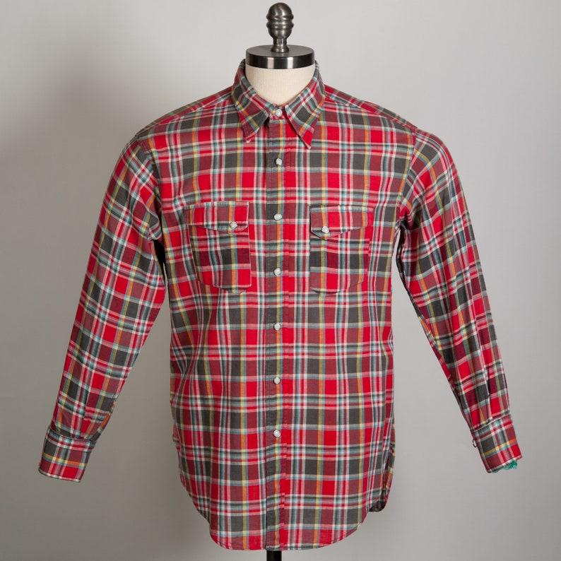 da40ef9136 1950 s Vintage LEVIS Authentic Western Wear Shirt Red