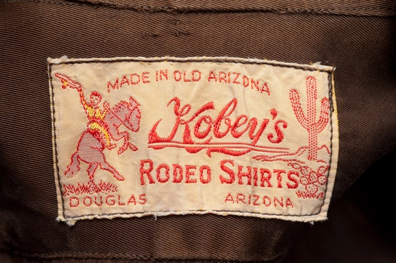 1940s Western Shirt Cowboy Kobey's Rodeo Wear Brow