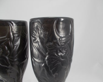 ON SALE! - Dragon Pilsner Mugs - Tankard - Black Dragon mug - Great gift for boyfriends and holidays