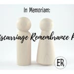 Miscarriage Remembrance Peg - Wooden Peg Doll