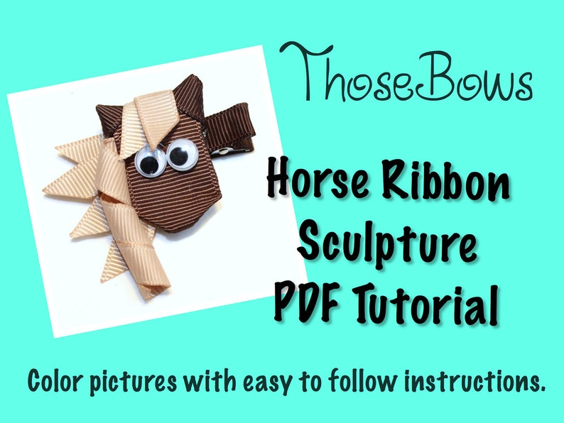 Instant Download Horse Ribbon Sculpture PDF Tutorial image 0