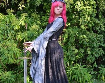 Elvish Dress,Medieval Gown, Gothic Dress, Pagan Dress, Pre-Raphaelite Gown,  Medieval Dress, Madeleine
