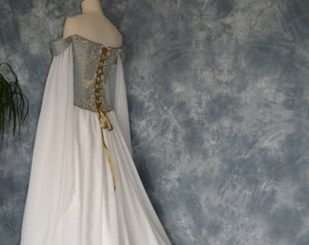 a1bce8d204afd Medieval Wedding Dress,Elvish Gown,Renaissance Dress,Corseted Wedding Gown,Robe  Medievale,Hand Fasting Dress,Pre Raphaelite Gown,Beth