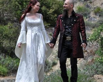Medieval Wedding Dress, Renaissance Gown, Elvish Wedding Dress, Robe Medievale, Pre-Raphaelite Dress, Hand Fasting Gown, ElvishGown, Marnie