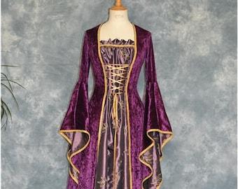 Medieval Dress, Renaissance Gown, Elvish dress, Robe Elfique, Pagan Gown, Handfasting Dress, Zerlina