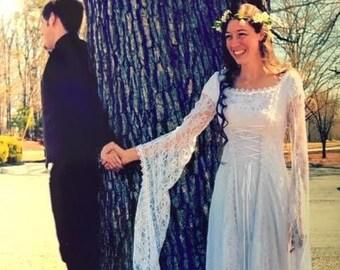 800124444837 Medieval Wedding Dress, Renaissance Gown, Elvish Wedding Dress, Robe  Medievale, Pre-Raphaelite Dress, Hand Fasting Gown, Morwenna