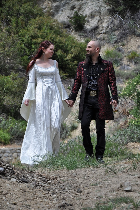 Medieval Wedding Dress, Renaissance Gown, Elvish Wedding Dress, Robe  Medievale, Pre-Raphaelite Dress, Hand Fasting Gown, ElvishGown, Marnie