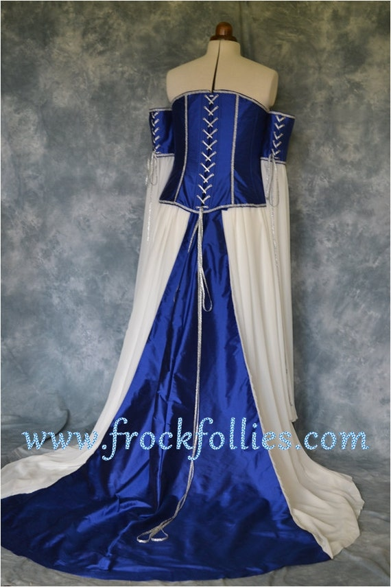 Medieval Wedding Gown Elvish Dress Renaissance Gown | Etsy