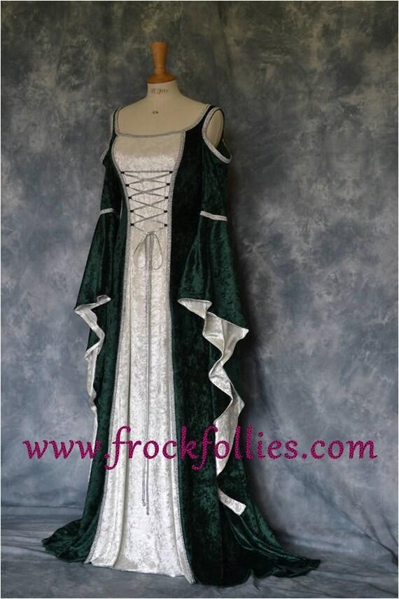 Medieval Gown Elvish Wedding Gown Handfasting Dress | Etsy