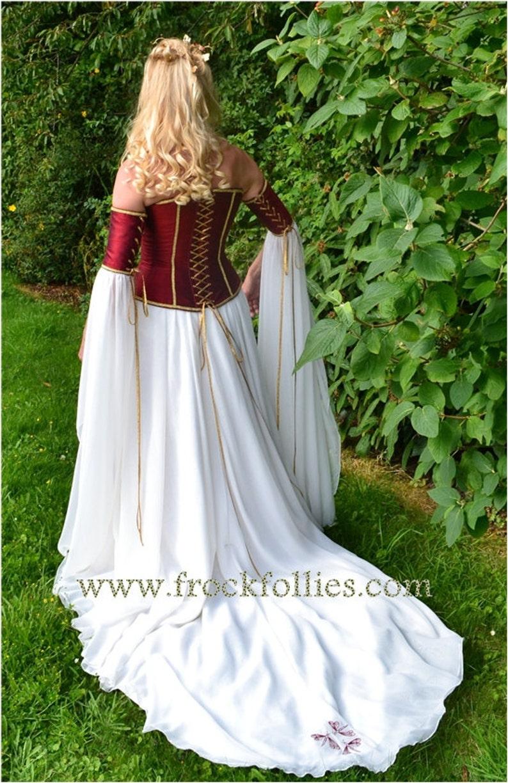 Medieval Wedding Gown Elvish Dress Renaissance Gown Etsy