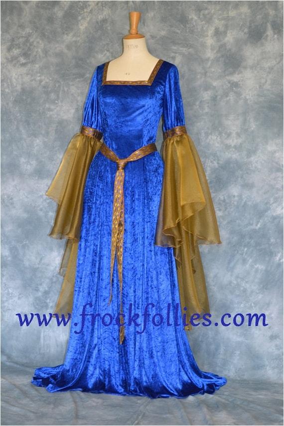 Medieval Wedding Dress Renaissance Wedding Gown Elvish | Etsy