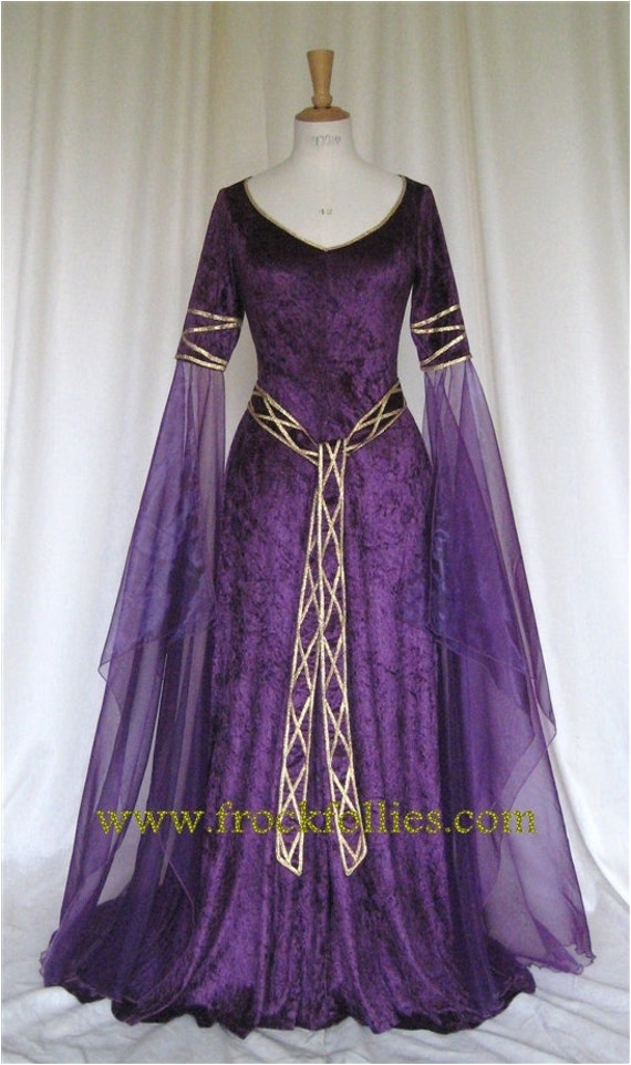 Eve a Celtic Elvish Medieval Pagan Wedding Gown with