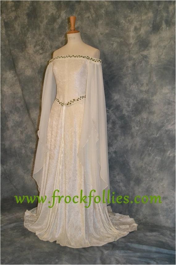Medieval Dress Elvish Wedding Dress Handfasting Dress | Etsy