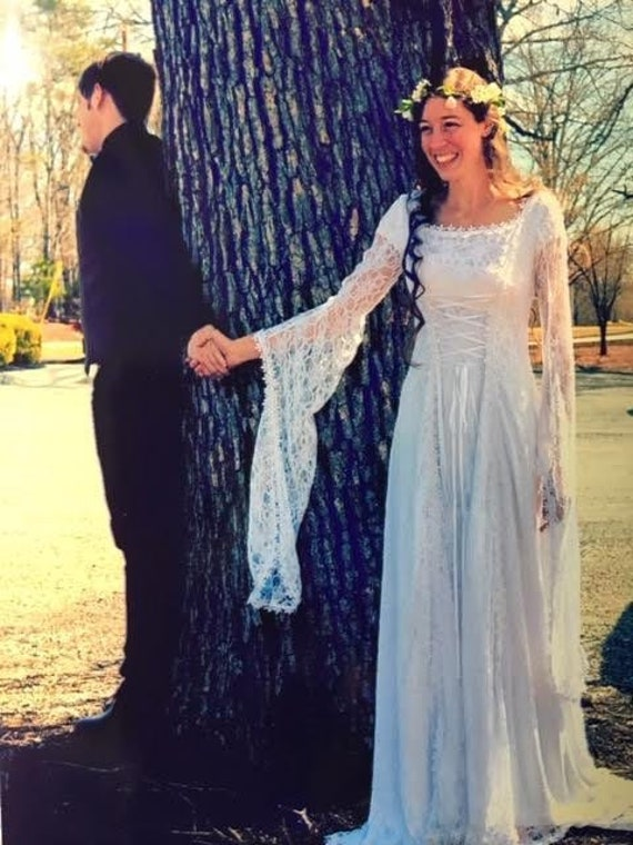 Medieval Wedding Dress Renaissance Gown Elvish Wedding Etsy