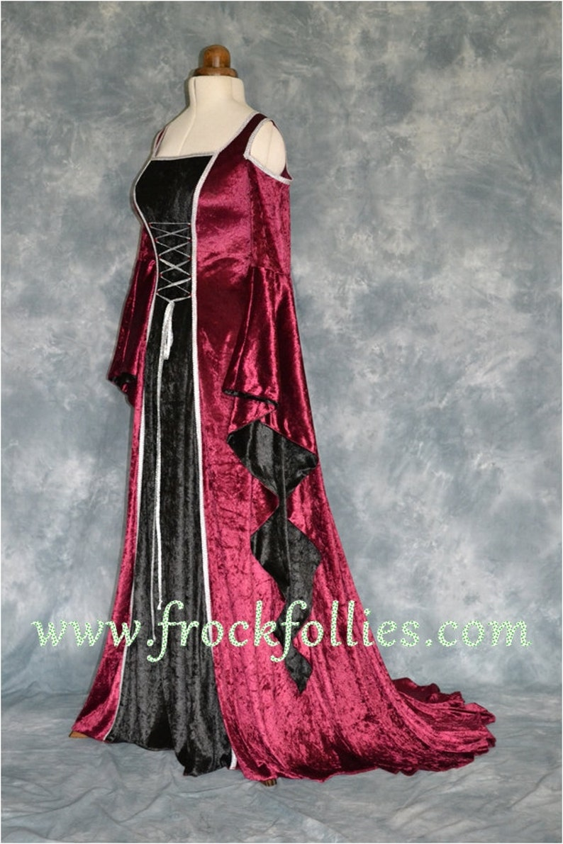 Medieval Dress Handfasting Dress Gothic Dress Renaissance Gown Medieval Gown Elvish Wedding Gown LARP Dress Melissa Prom Dress