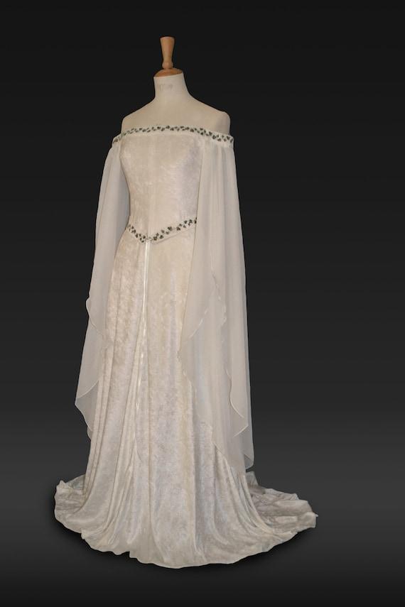 Robe Medievale Robe De Mariee Elfique Robe De Jeune Robe Etsy