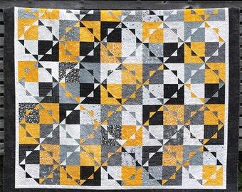 Pattern, Kira Quilt Pattern, GE Designs, 10 Inch Square Quilt, Use StripologySquaredRuler, Crib to King Sizes, GE-184, #Kiraquilt