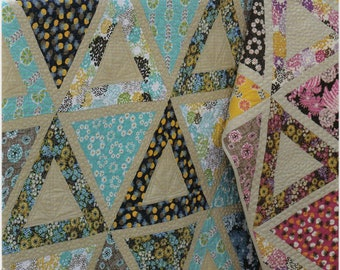 Pattern, Chopsticks, 1 Quilt Pattern, by Jaybird Quilts, JBQ111, Multiple Sizes, Use a 60 Degree Triangle Ruler, Baby to King Size, Triangle