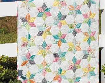 Pattern, Sprinkles Baby Quilt, 1 Pattern, by Jaybird Quilts, JBQ160, One Size, 37 x 44 Inches, Baby Quilt, Use the Sidekick Ruler, NOT Incl.