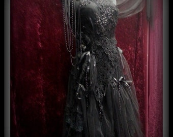 RESERVED>>>>>STUNNING Hand Made One Of A Kind Beautiful Gothic Gown.