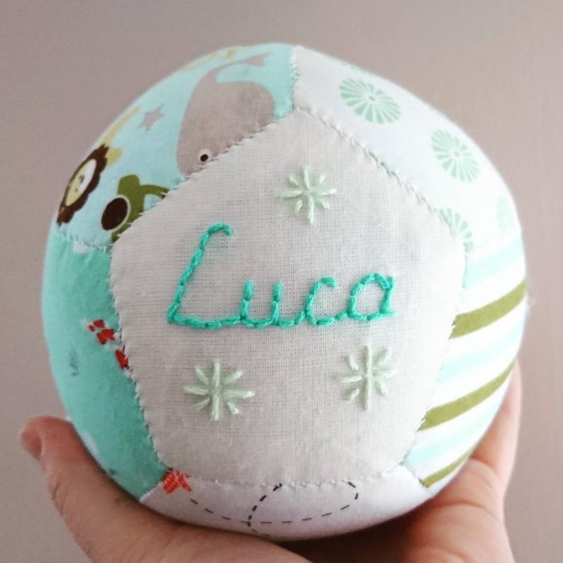 Christening gift customised baby gift soft baby ball soft image 0