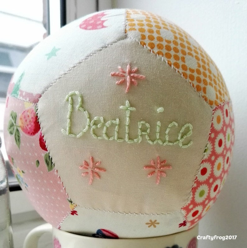 Personalised unique baby gift handstitched gift baby girl image 0