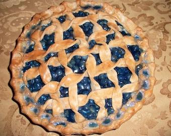 Fake Pies Blueberry Pie Lattice Topped Fake Food Pies