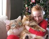 Custom Pet  Pillow, Dog Pillow, Cat Pillow, Personalized gift for pet lovers, dog portrait pillow, dog gifts, Cat gifts, pet memorials