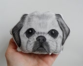 Dog Portrait Soft Sculpture, Dog Mini Decorative Pillow, handpainted fiber art - gift for pet lovers