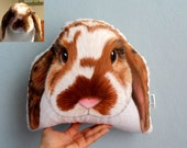 Custom Pet Pillow,  Bunny Pillow , Rabbit pillow, Personalized pet pillows, gift for pet lovers, pet memorial gifts, cat gifts, pet gifts