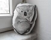 Koala Plush Mini Pillow Decor , Handpaint Soft Pillow Toy, soft animal sculpture , gift for animal lovers, collectibles