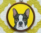 Custom Pet Portrait - Personalized Pet - Pet Hoop Art - Dog Portrait - Petlover Gift -Gift for Pet lovers - Custom Embroidery hoop art 7""