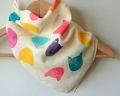 Colorful Cat print bandana/ Cotton Neckerchief/Square Scarf/Birthday Gift/Gift for Her/Gift for Cat Lover/Summer Scarf