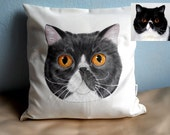 Pet Pillow, Home Decor, Pet Portrait Pillow, Custom Pet Pillow, Dog Pillow, Cat Pillow, Pet Cushion, Dog Cushion, Pet Owner Gift, Dog Gift