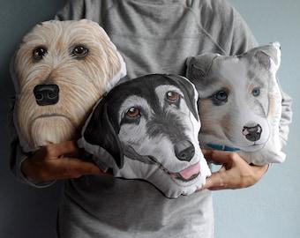 Custom Pet Portrait Plush Pillow, Personalized pet pillows, gift for pet lovers, cat portrait, dog portrait, cat pillow, dog pillow
