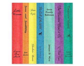 Bright Classic Book Lovers For Boys Girls Shower Curtain