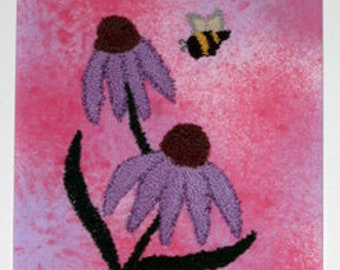 Cone Flower Punch Needle Embroidery Pattern