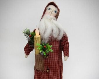 Primitive Santa | Handmade Santa | Santa doll | Primitive Country Santa | Primitive country Christmas decor | Primitive country decor |