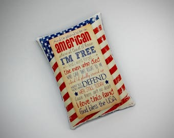 America pillow | Patriotic holiday decoration | USA decor | red white blue | Patriotic pillow | Primitive Patriotic | Patriotic home decor
