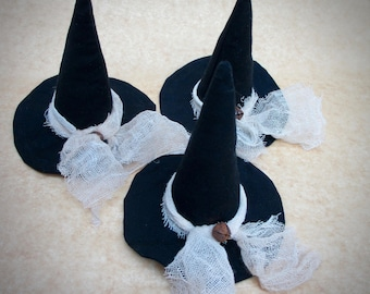 Witch Hat Bowl Fillers | Primitive Halloween decor | Primitive Witch Hat | Witch Hats | Conical Hat | Halloween Decor | Witch hat ornaments