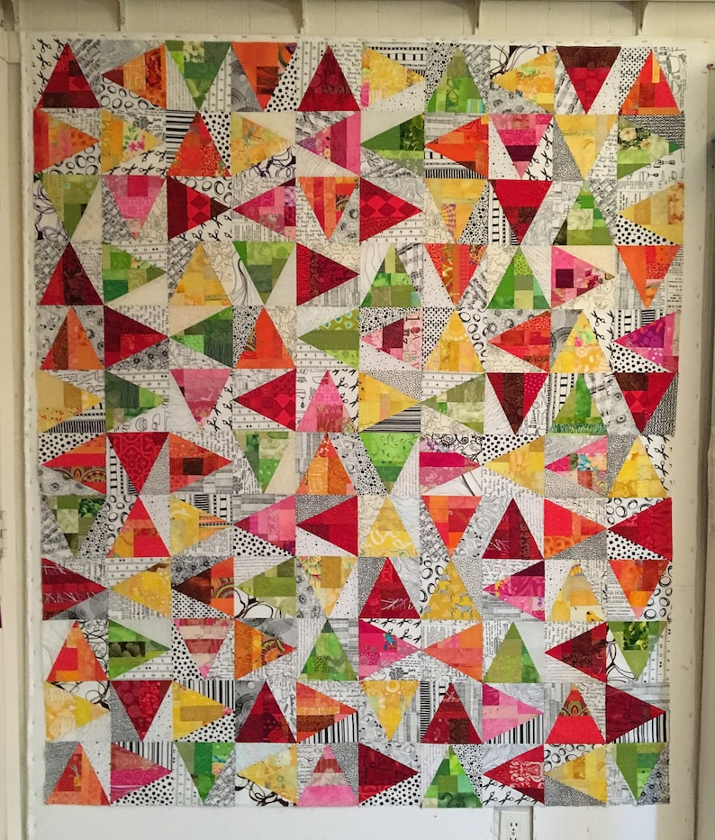 Lynne's Scrap Slab Triangle Quilts image 0