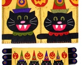 A Spooktacular Party wool felt penny rug pattern by Cleo and Me