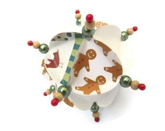 Christmas Ornament, Geometric Ornament, Paper Ornament, Christmas Ball, Handmade Ornament, Tree Ornament, Gift Ornament, Large Ornament