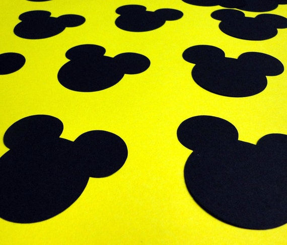 10 × Disney Minnie and Mickey Mouse Silhouette Head Card Toppers Die Cut
