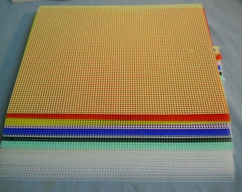 19 NEW Darice Plastic Canvas Mesh Sheets 10 1/2 x 13 1/2 - 7 Count